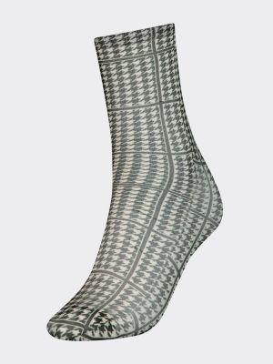 Tommy Hilfiger Zendaya Houndstooth Print Socks
