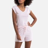 La Redoute Collections Finely Ribbed Short Pyjamas