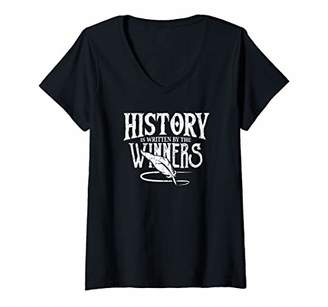 Womens Napoleon History By The Winners. France War Leader V-Neck T-Shirt
