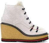 Moncler wedge lace-up boots