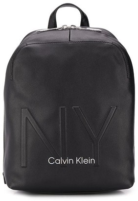 Calvin Klein small embossed backpack
