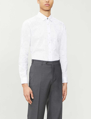 Ted Baker Floral print stretch-cotton shirt