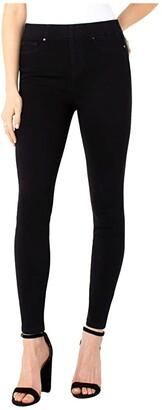 Liverpool Chloe Pull-On Ankle Leggings in Black Rinse (Black Rinse) Women's Jeans