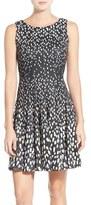 Eliza J Scuba Fit & Flare Dress (Regular & Petite)