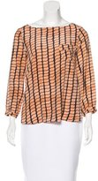 Kelly Wearstler Silk Geometric Print Top