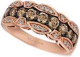 LeVian Le Vian Chocolate and White Diamond Band (1-1/8 ct. t.w.) in 14k Rose Gold