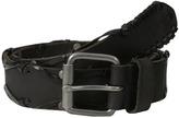 John Varvatos 38mm Leather Belt w/ Harness Buckle
