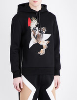 Neil Barrett Owl graphic zipped hoodie