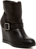 Dune London Pinds Faux Fur Lined Wedge Bootie
