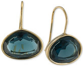 Lauren Ralph Lauren Gold-Tone Horizontal Oval Stone Drop Earrings