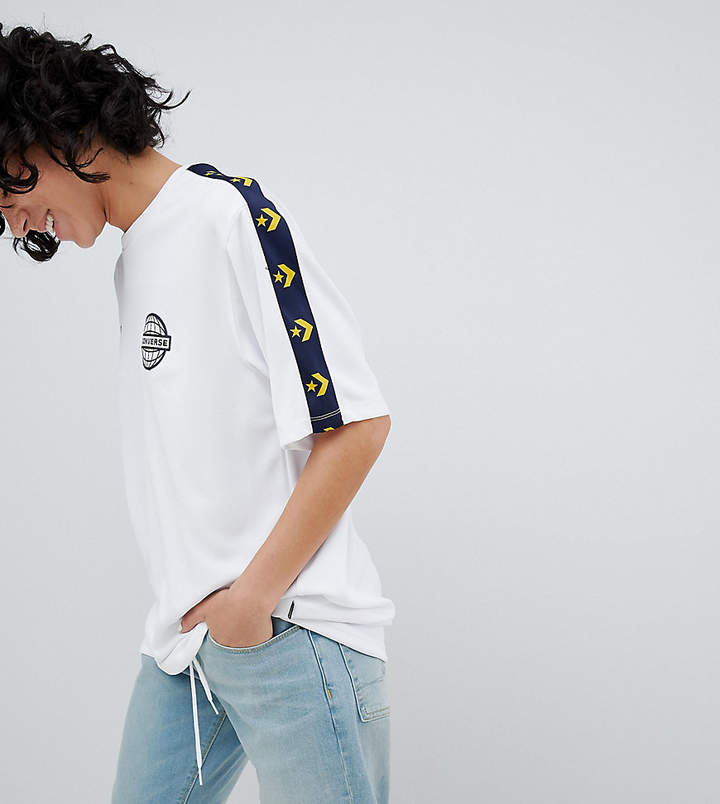 Converse (コンバース) - Converse Colorblock Soccer Tshirt In White