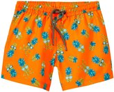 Sunuva Pineapple Swimshorts UPF 50+ (Toddler/Kid) - Neon Orange - 2-3