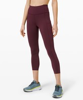 """Lululemon Fast and Free High-Rise Crop II 23"""" *Non-Reflective Online Only"""