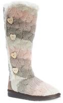 Muk Luks Women's Felicity Stripe Print Shearling Boots