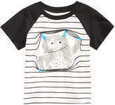 First Impressions Striped Monster Cotton T-Shirt, Baby Boys (0-24 months), Created for Macy's
