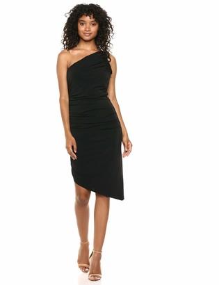 Halston Women's ONE Shoulder Ruched Jersey Dress