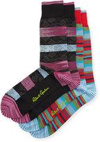 Original Penguin Patterned Socks, Two-Pack, Black/Red