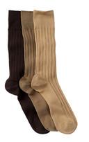 Nordstrom Solid Dress Socks - Pack of 3