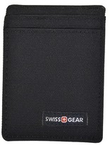 Swiss Gear Men's Front Pocket Nylon Wallet with Money Clip