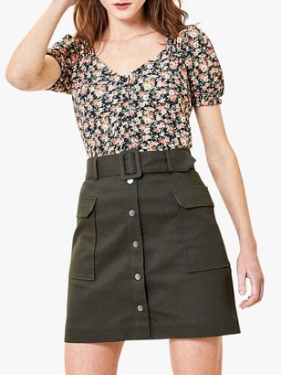 Oasis Floral Broderie Top, Multi