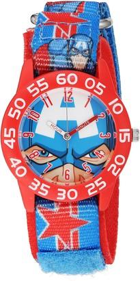 EWatchFactory Marvel Boy's 'Captain America' Quartz Plastic and Nylon Watch