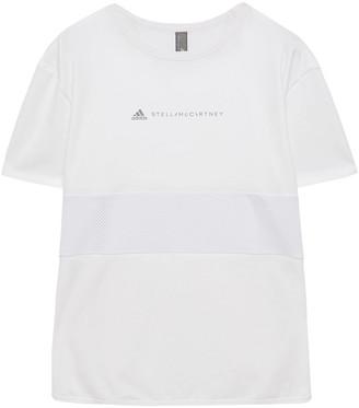 adidas by Stella McCartney Run Loose Stretch-jersey And Mesh T-shirt