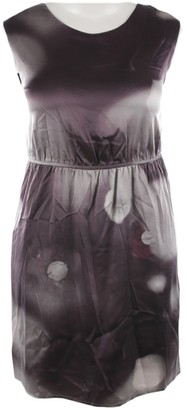 Allude Purple Leather Dress for Women