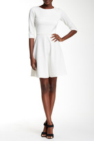 Donna Morgan Elbow Length Sleeve Fit & Flare Dress