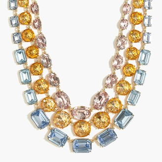 J.Crew Three-layer crystal statement necklace