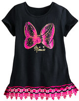 Disney Minnie Mouse Bow Lace-Trimmed Tee for Girls
