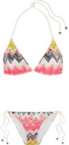 Missoni Crochet-knit Bikini - Pink