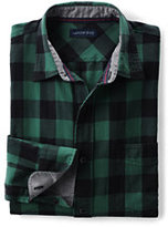 Classic Men's Tall Tailored Fit Long Sleeve Forewind Twill Shirt-Deep Scarlet Check
