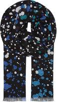 Diane von Furstenberg Hanovar modal paint-splash scarf