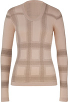 Burberry Shale Pink Check Cashmere-Blend Pullover
