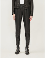Wolford Stella faux-leather tapered trousers