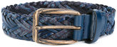 Etro woven belt - men - Cotton/Calf Leather/Polyester - 100