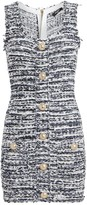 Balmain Tweed Sleeveless Mini Dress