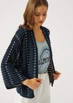 Emporio Armani oversize textured knit cardigan