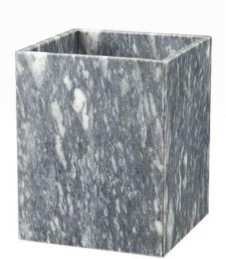 Marble Crafter Myrtus Collection Square Cloud Gray Wastebasket w/ Liner