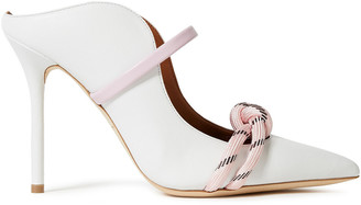 Malone Souliers Farrah 100 Knotted Cord-trimmed Leather Mules