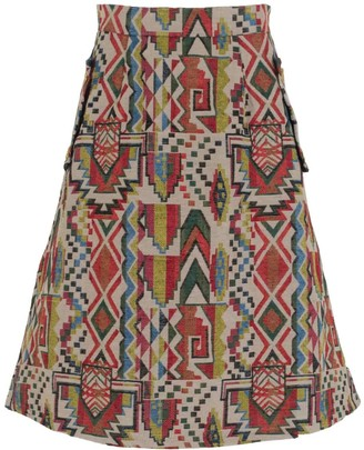 Relax Baby Be Cool Multicolor Midi Skirt With Pockets