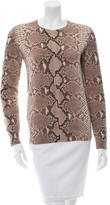Tory Burch Wool Snake Print Sweater