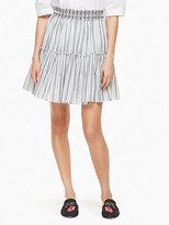 Kate Spade Stripe smock waist skirt