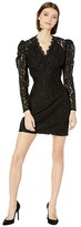 WAYF Spencer Puff Sleeve Mini Dress (Black Lace) Women's Dress