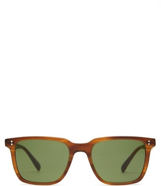 Oliver Peoples Lachman Square Acetate Sunglasses - Mens - Tortoiseshell