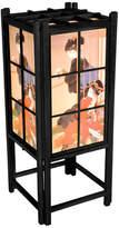 "Oriental Furniture 18"" Geisha Shoji Lamp, Black"