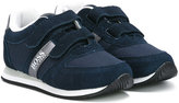 Boss Kids - dual touch strap sneakers - kids - Cotton/Suede/Polyester/rubber - 36