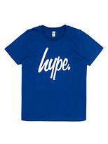 Hype Boys' Big Logo Short Sleeve T-Shirt, Navy