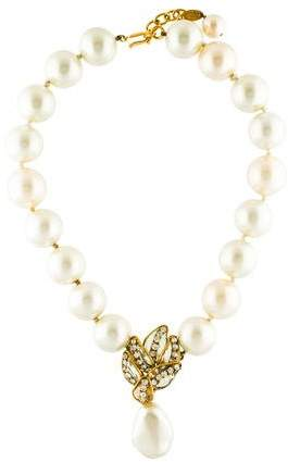 Chanel Faux Pearl & Glass Necklace