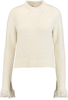 3.1 Phillip Lim Fringe-trimmed textured-knit sweater